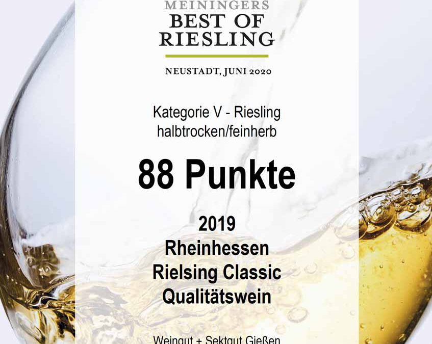 Best of Riesling 2020 – Rheinhessen Riesling Classic